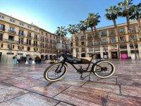 Visitando la ciudad en bicicleta