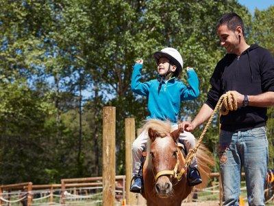 Pony route for children in Sant Antoni de Vilamajo