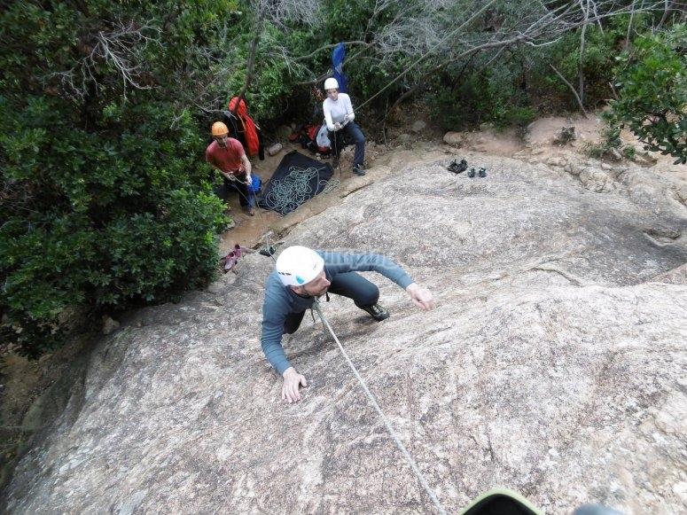Escalada deportiva en Montserrat