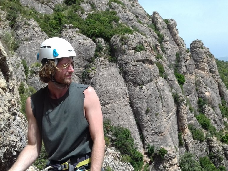 Escalador en Montserrat