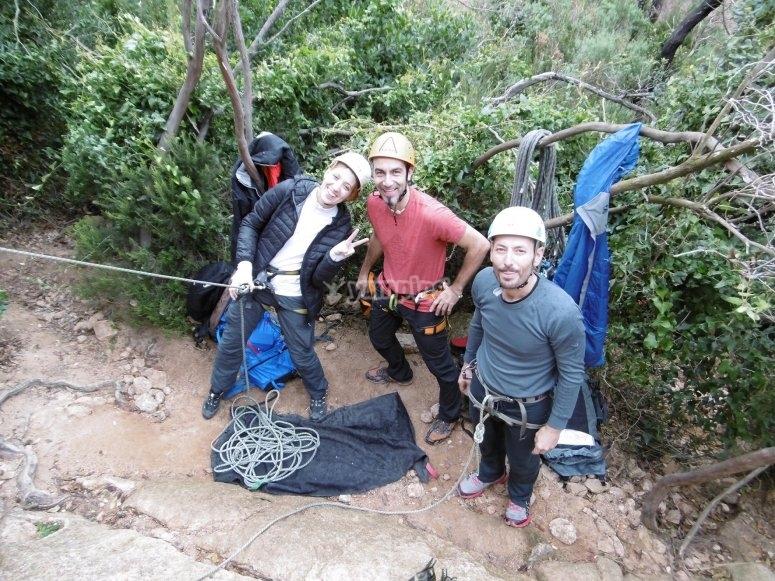 Grupo de escalada deportiva