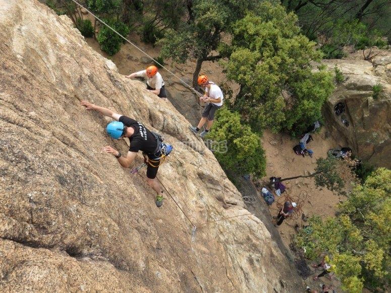 Iniciación a la escalada en los muros de Montserrat