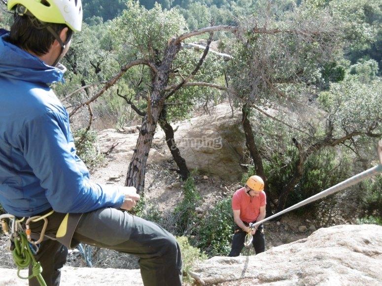 Iniciando la sesión de escalada