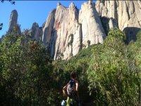 Ruta de senderismo en Monserrat