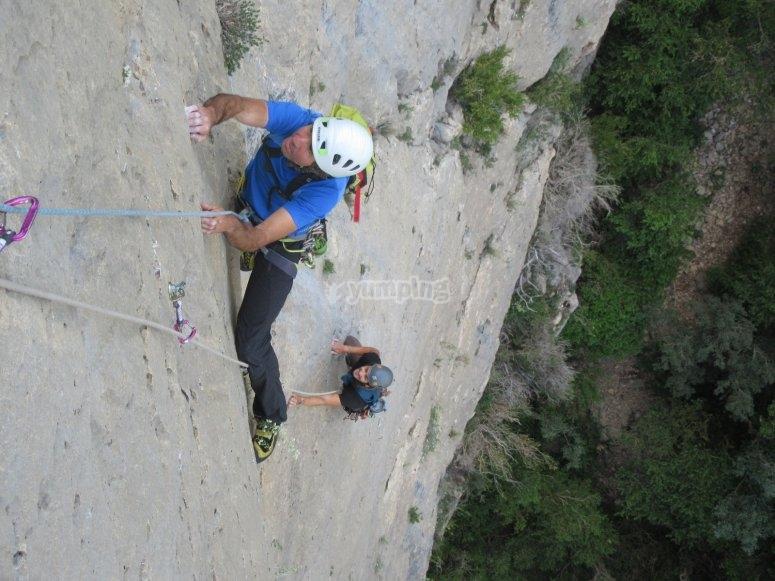 Escalador en tramo vertical