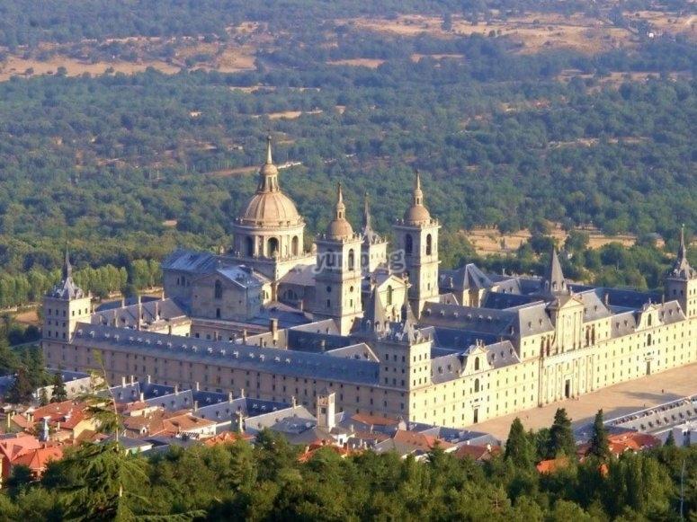 埃斯科里亚尔修道院从空中