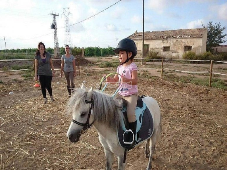 Small girl and pony