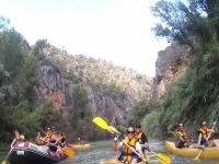 A bordo de los kayak y el raft