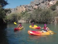 Paseo en kayak en agua dulce