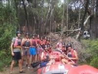 Preparados para el rafting de Cenajo