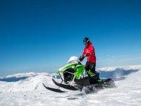 Preparado para la ruta en la nieve