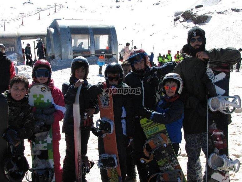 年轻的滑雪者