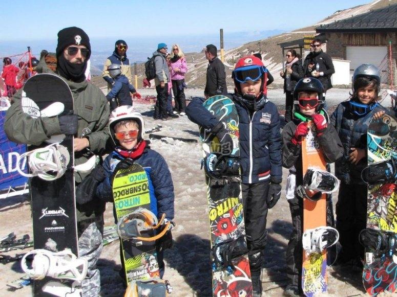 Peques和他的滑雪板