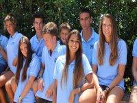 Studenti con l'uniforme del campo