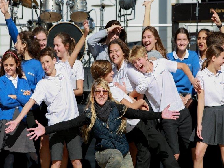 Alumnos del campamento de ingles