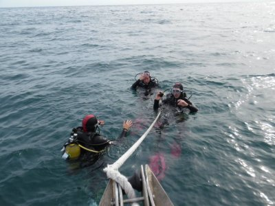 Salida de buceo con equipo Puerto de Mataró