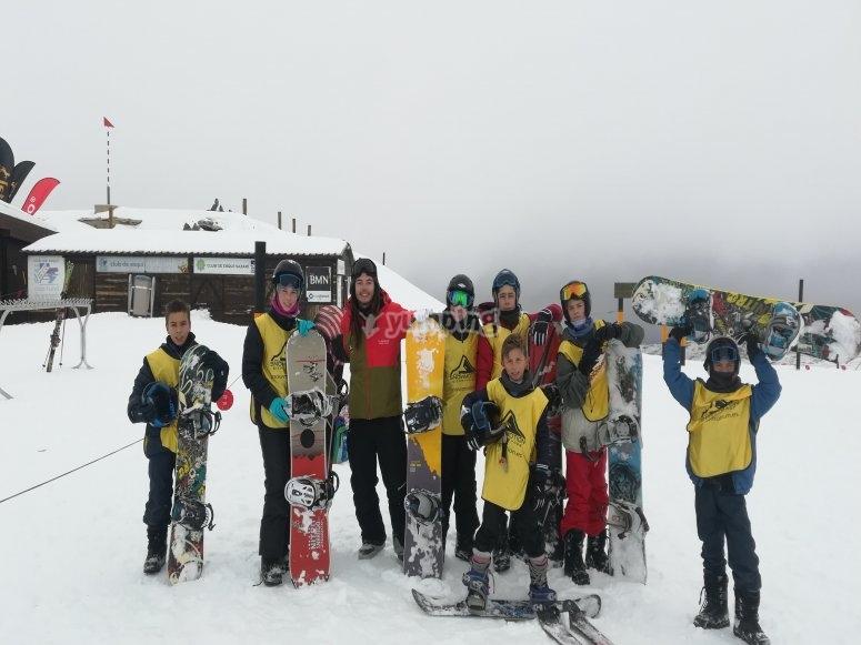 内华达山脉的雪上运动