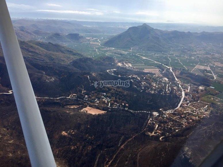 Foto tomada en el vuelo