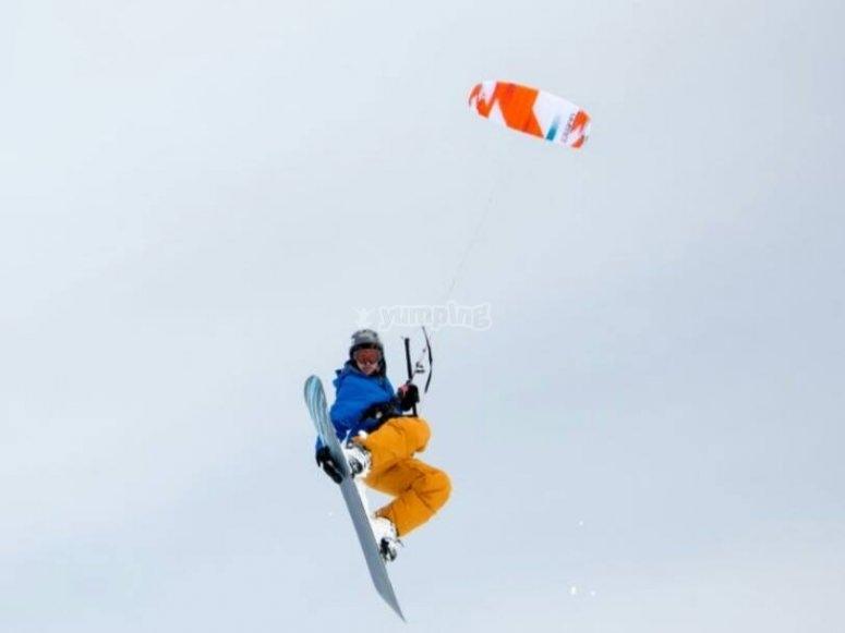 Dia de snowkite en Grandvalira