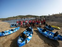Group preparing for kayaking