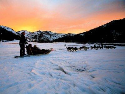 Ruta nocturna de mushing  en Andorra 45 minutos