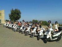 Aparca任何地方组织一次自行车路线