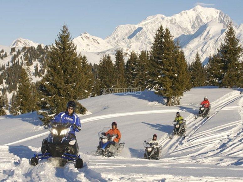 Aventura en moto de nieve biplaza