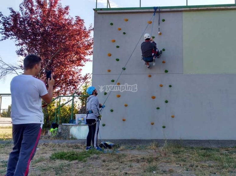 Young person climbing