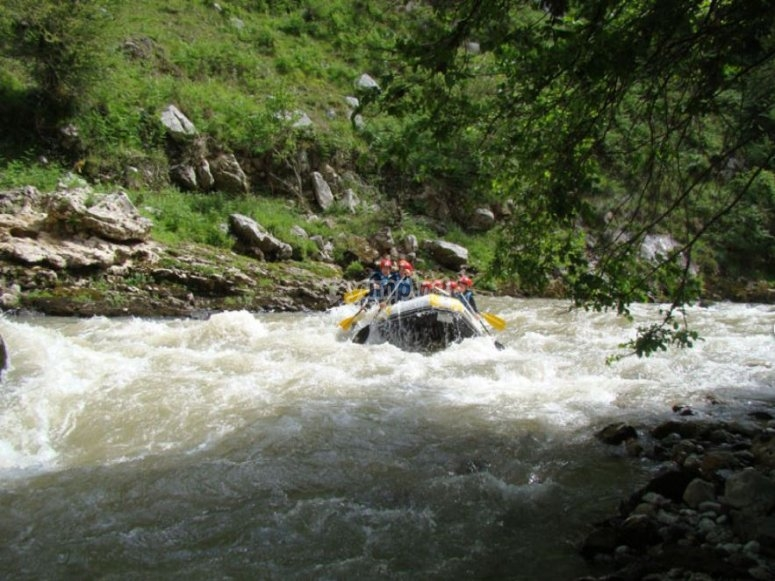Rafting in the rough waters