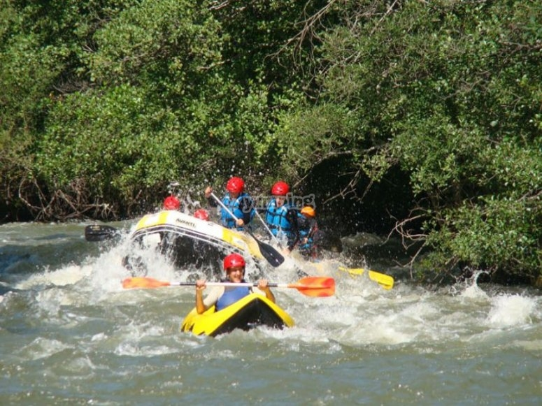 Rafting day in the Ebro
