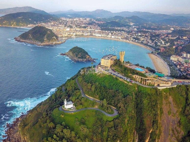 San Sebastián Donostia en avioneta