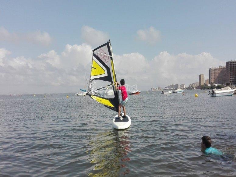 Iniciandose en el windsurf