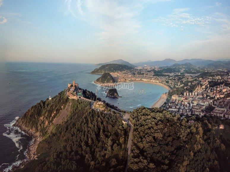 San Sebastián desde el aire