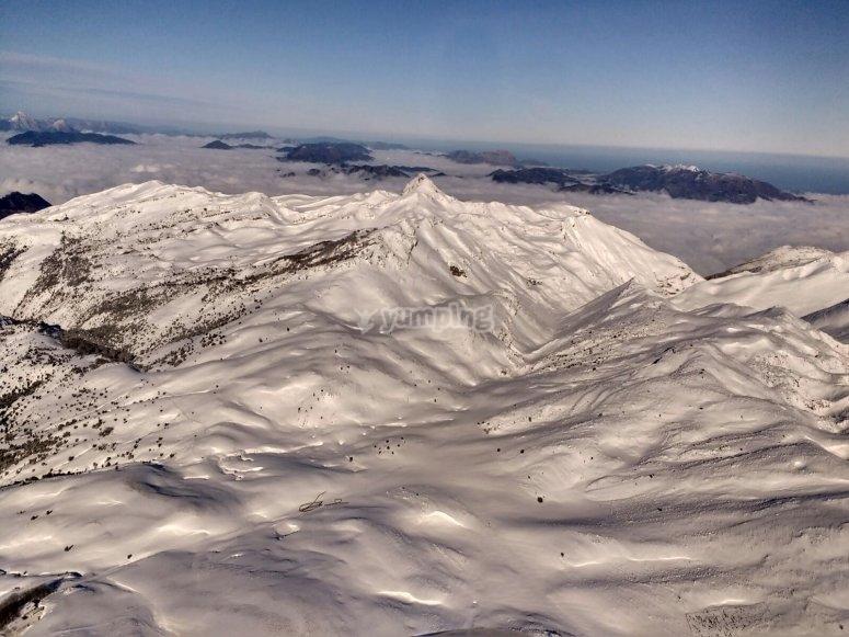 Vista aérea de la Sierra de Aralar