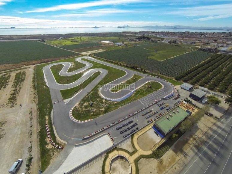 1100 metres layout