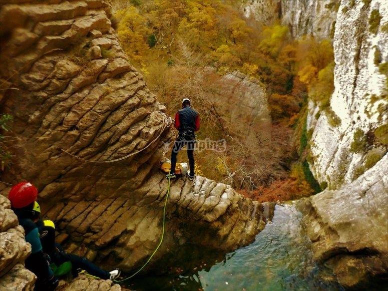 Barranco en la zona de Pirineos nivel uno