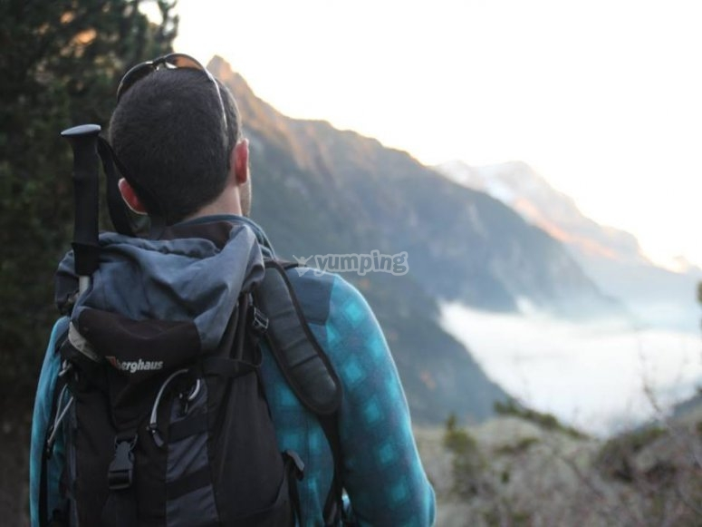 Contemplando un lindo paisaje