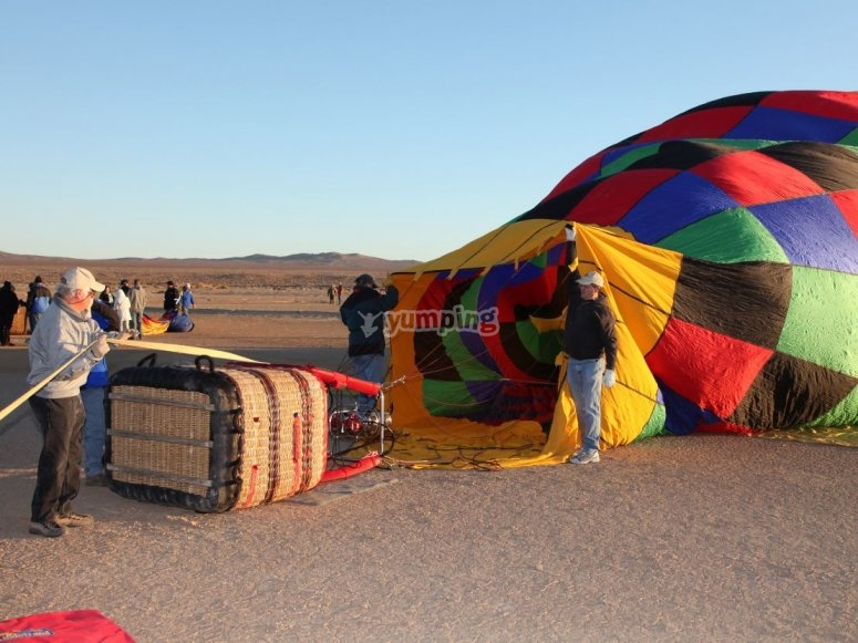 Setting the balloon