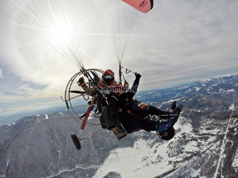 冬季动力伞