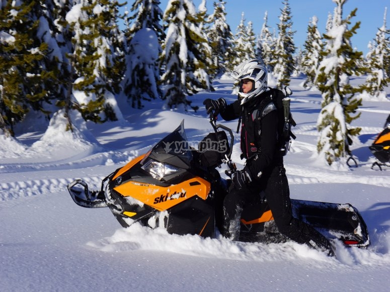雪地和雪地车