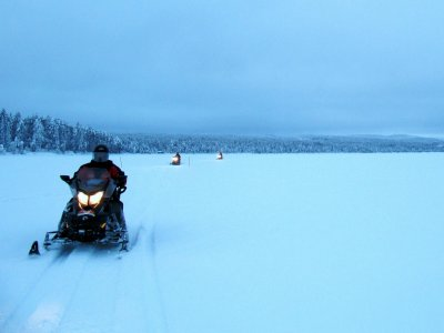 Moto de nieve biplaza salida en Grau Roig 30 min