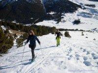 Caminado sobre la nieve