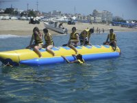 Preparándonos para una ruta en banana boat