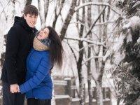 Ruta en la nieve para parejas
