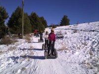 Ruta de segway para nieve en La Molina 15 min