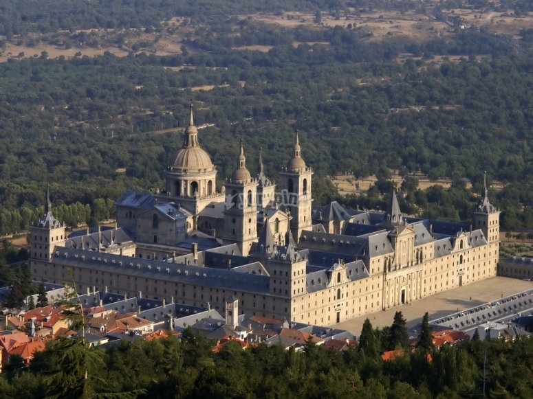 Birds eye view of El Escorial