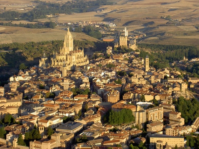 Birds eye view of Segovia