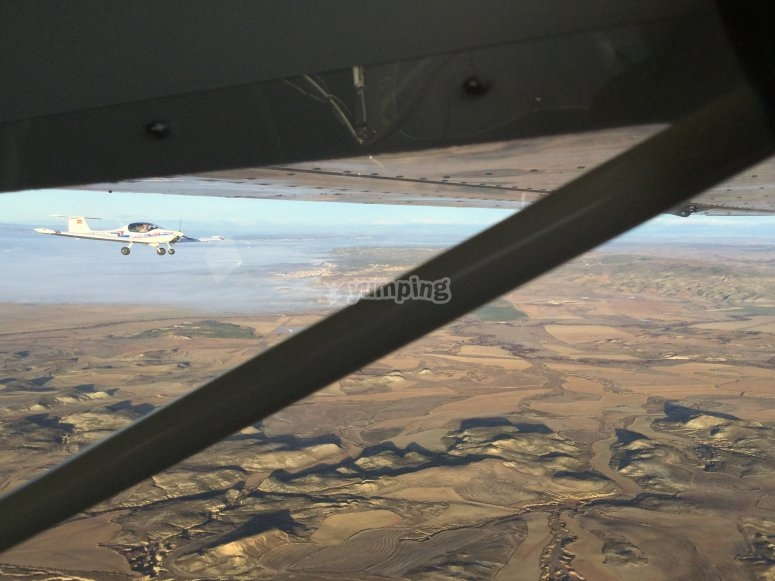 Flying over the Bardenas Reales
