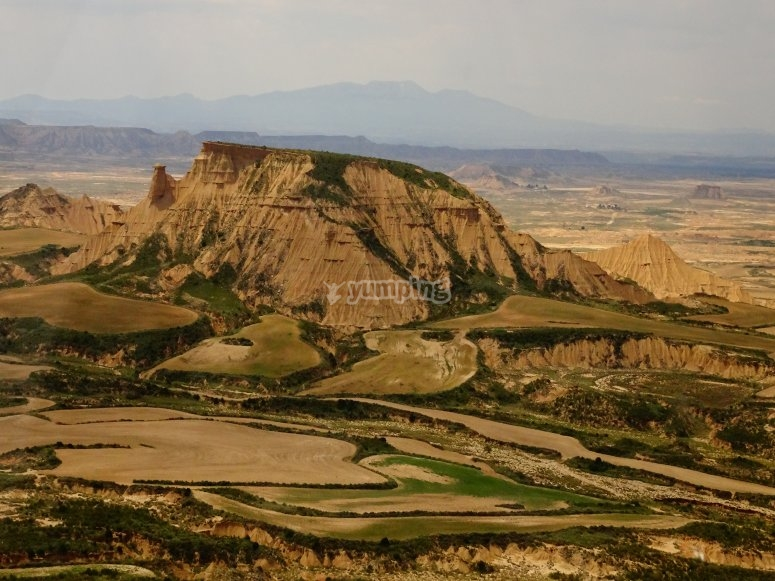 The Bardenas Reales from above