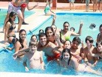 En la piscina del camp